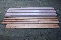 Das für den Bau verwendete Holz